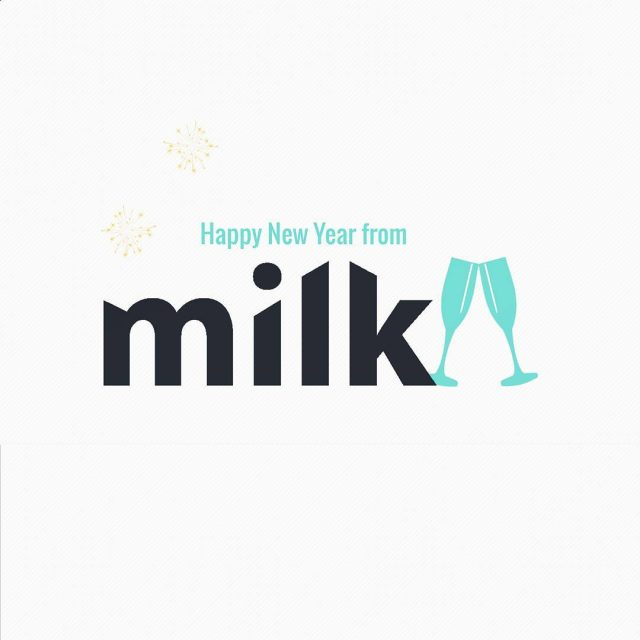 Happy New Year from all of us at Milk! 2017hellip