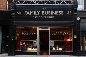 Shop front of The Family Business