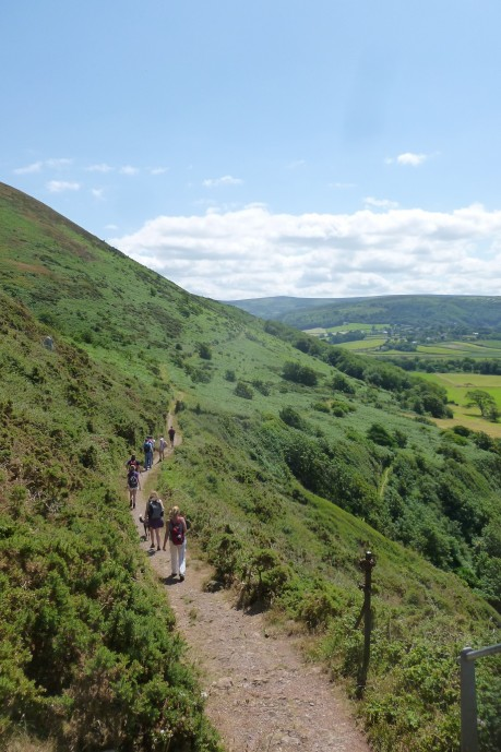 Walking the South West coastpath from Minehead to Porlock. Credit: Emma Foster