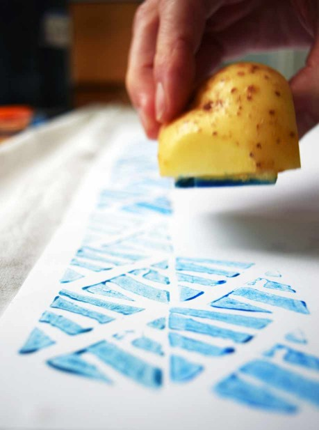 Potato printing © Ruth Anderson for milk. magazine.