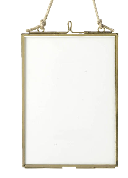 Glass Hanging Frame, £11.95, from All Things Brighton Beautiful on notonthehighstreet.com.