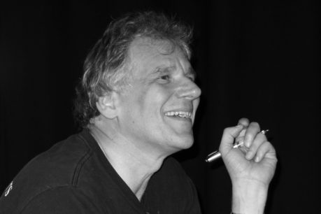 black and white image of Peter Watts