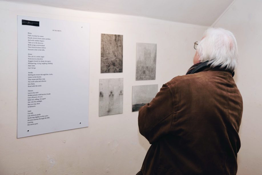 Visitors were invited to walk around the exhibition (credit Kevin Mitchell)