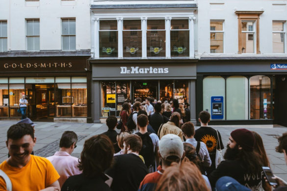 Dr. Martens opened its Bath store with a gig from Bristol punk band IDLES