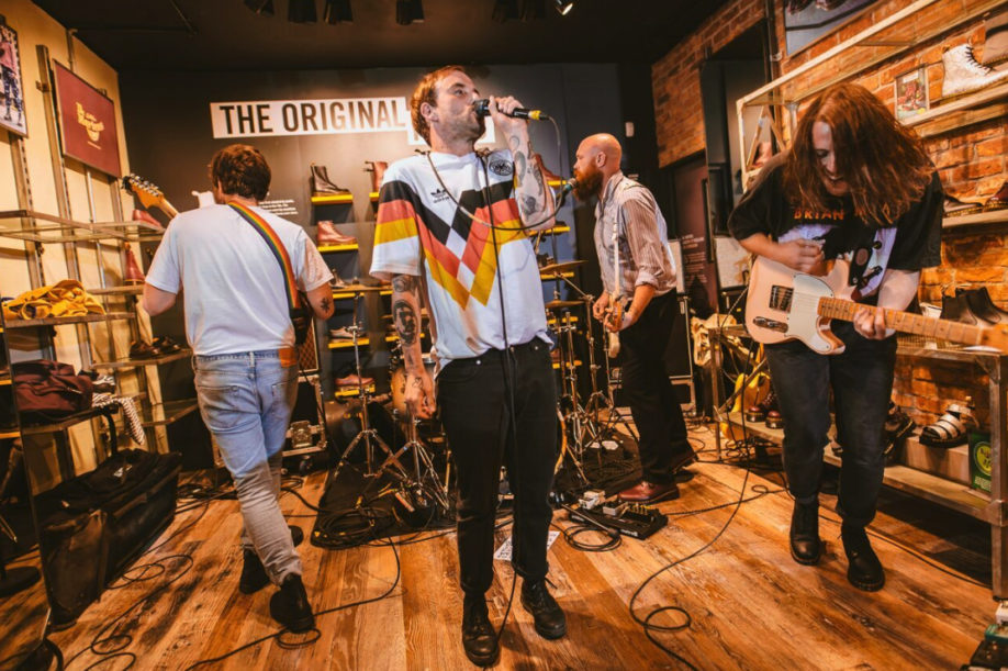 IDLES were a hit at the Dr. Martens Bath store launch