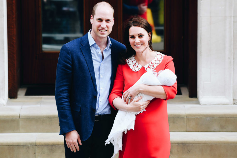 The Duke and Duchess of Cambridge cradling their newborn son outside of the Lindo Wing of St Mary's, London, in front of an array of press © @kensingtonroyal on Instagram