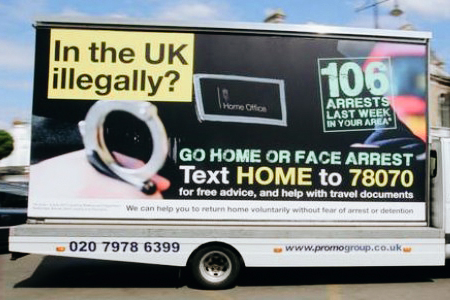 'Go home or face arrest' 2013 campaign